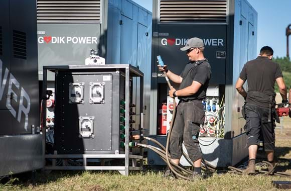 Northside music festivals, remote monitoring of gensets