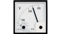 AC voltage meter with switch