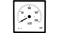 AC/DC current and voltage with 90 ° or 240 ° pointer